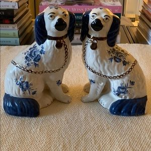 Other - Ceramic Blue/White Dogs